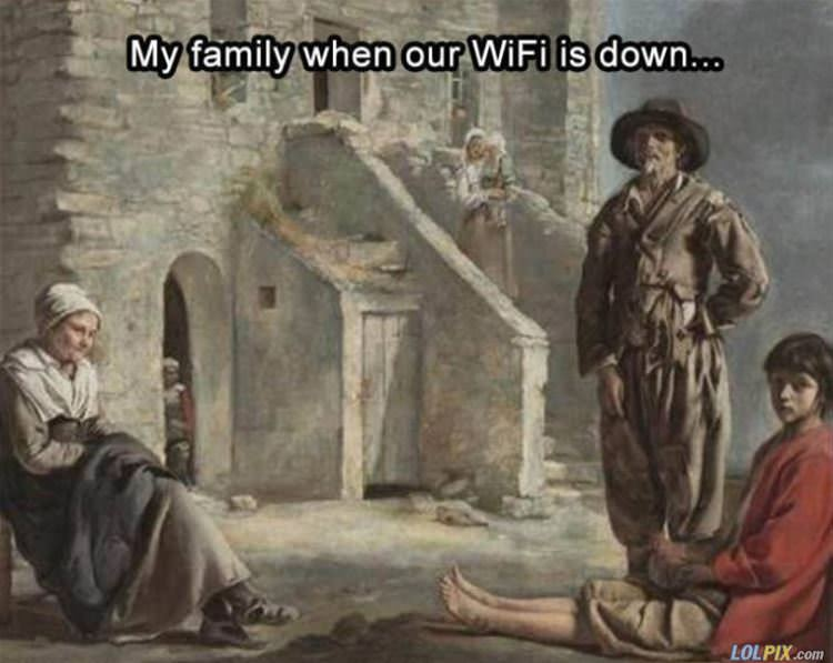 when the wifi is down