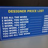 designer price list