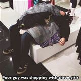 poor guy shopping