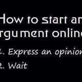 start an argument online