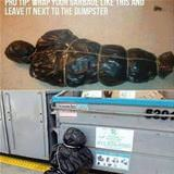 dispose of your garbage