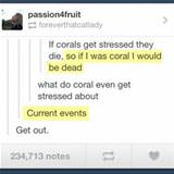 stressed coral