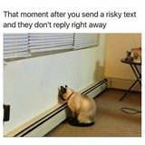 that moment after a risky text