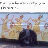 dodge your ex in public
