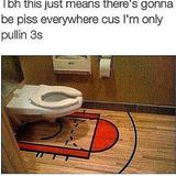fancy basketball toilet