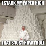 stack my paper high