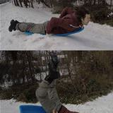 tried sledding today