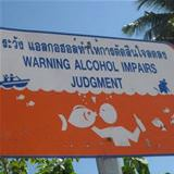 warning about alcohol