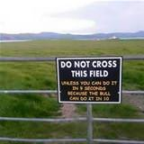 do not cross this field