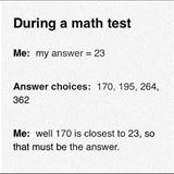 during a math test