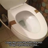 lost the toilet seat war