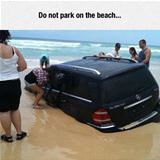 parking on the beach