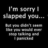 sorry i slapped you