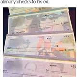 alimony checks