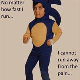 no matter how fast i run