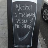 alcohol is photoshop