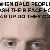 bald people washing their face