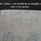 very touching journal entry