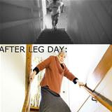 before and after leg day