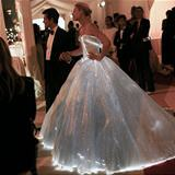 lit up wedding dress