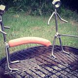 roasting hot dogs