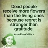 dead people receive more flowers