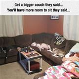 get a bigger couch