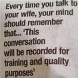 talking to your wife