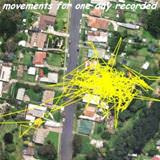 a cats movements tracked