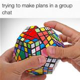 making plans in a group chat