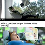 lie down while working