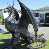 an awesome recycled dragon