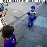 little batman vs superman