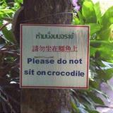 please do not sit