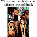 all your friends are on different levels