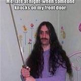 at night when someone knocks on my door