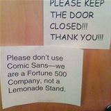 please dont use comic sans
