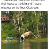 waterslide to the lake