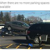 no more parking spaces