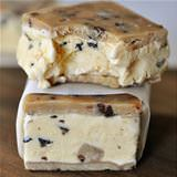 cookie dough ice cream sandwich
