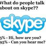 what people talk about on skype