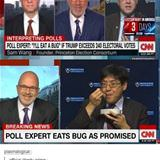 a poll expert eats a bug on crooked cnn