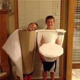 amazing toilet costume