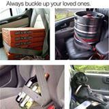buckle up your loved ones