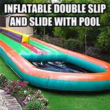 double slip and slide swimming pool