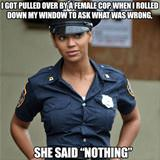 Got Pulled Over By A Female Cop