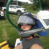 home made beer helmet