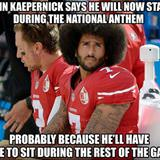 colin kaepernick is going to stand now