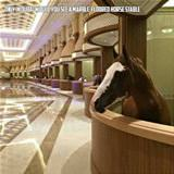 marble floored horse stable