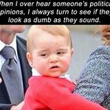 over hear someones political opinions